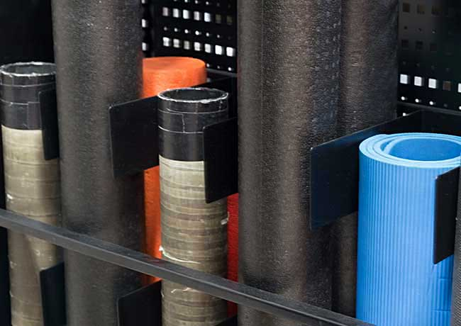 crossfit rolled mat storage