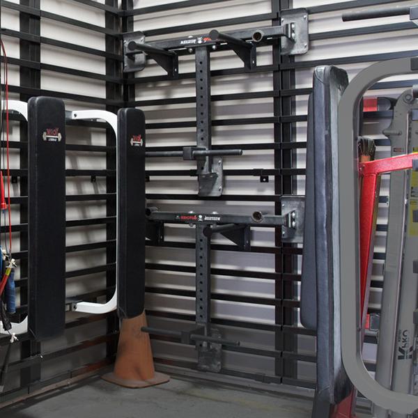 Crossfit wall storage