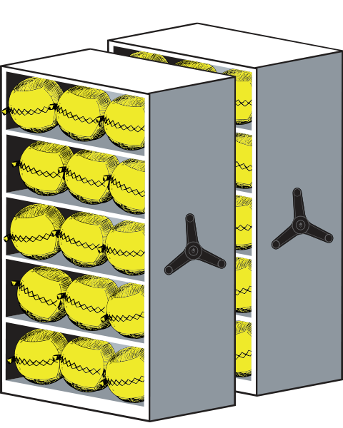 LIFT Storage wall balls and medicine ball
