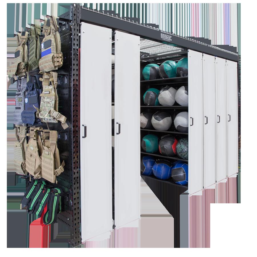LIFT system - wall ball storage