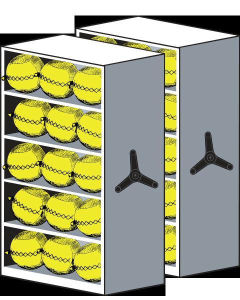 LIFT System Wall Balls Equipment Storage