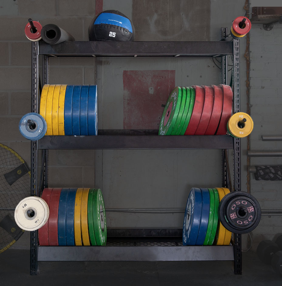 Northfit Crossfit Plate Rack Storage