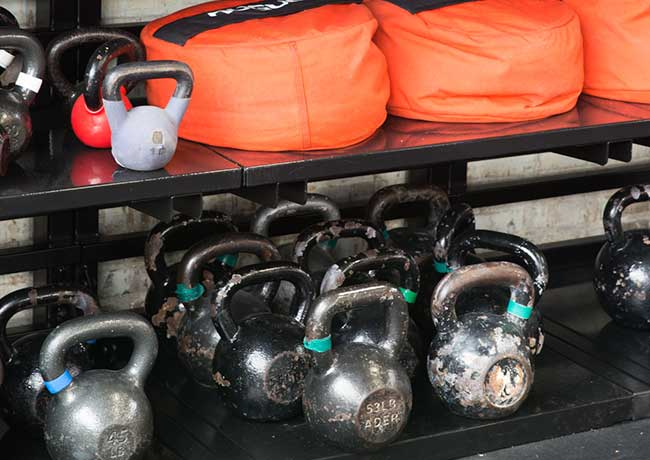 Heavy-duty Shelves for Kettle bells and sandbags