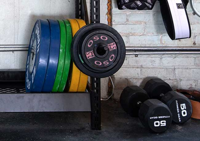 Crossfit Gym Plate Racking